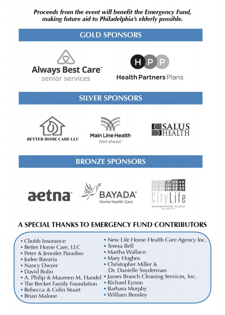 Emergency Fund Coalition Luncheon 2018: Sponsors