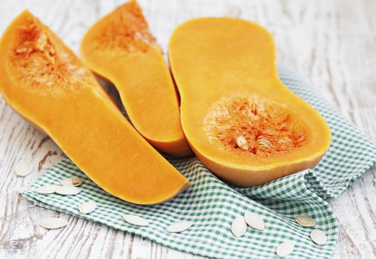 Butternut Squash is in season during the fall.