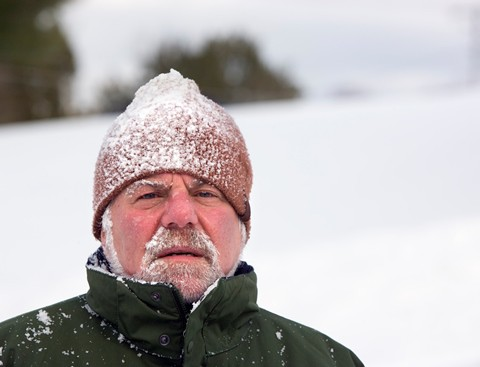 Senior can be particularly at risk of cold stress as temperatures drop.