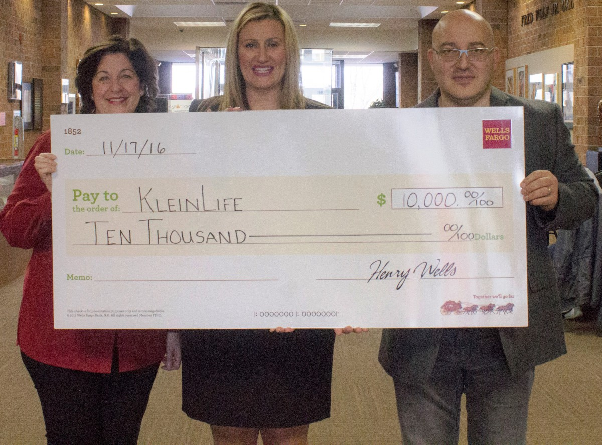 Wells Fargo Awards Grant to KleinLife
