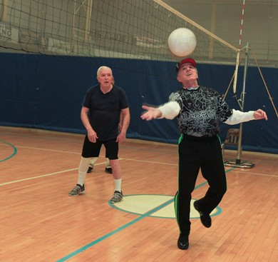 Two men enjoy volleyball at KleinLife: Northeast Philadelphia