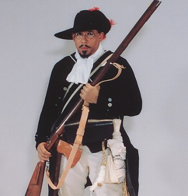 Noah Lewis re-enacts black Revolutionary War hero Ned Hector. (Photo courtesy of Noah Lewis)