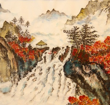 """Autumn,"" by Virginia Yuk Yun Mark ,exhibited for PCA's ""Celebrate Arts & Aging"" 2016"