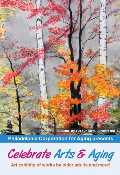 "The 2017 Celebrate Arts & Aging signature artwork is ""Autumn,"" by Yuk Yun Mark."