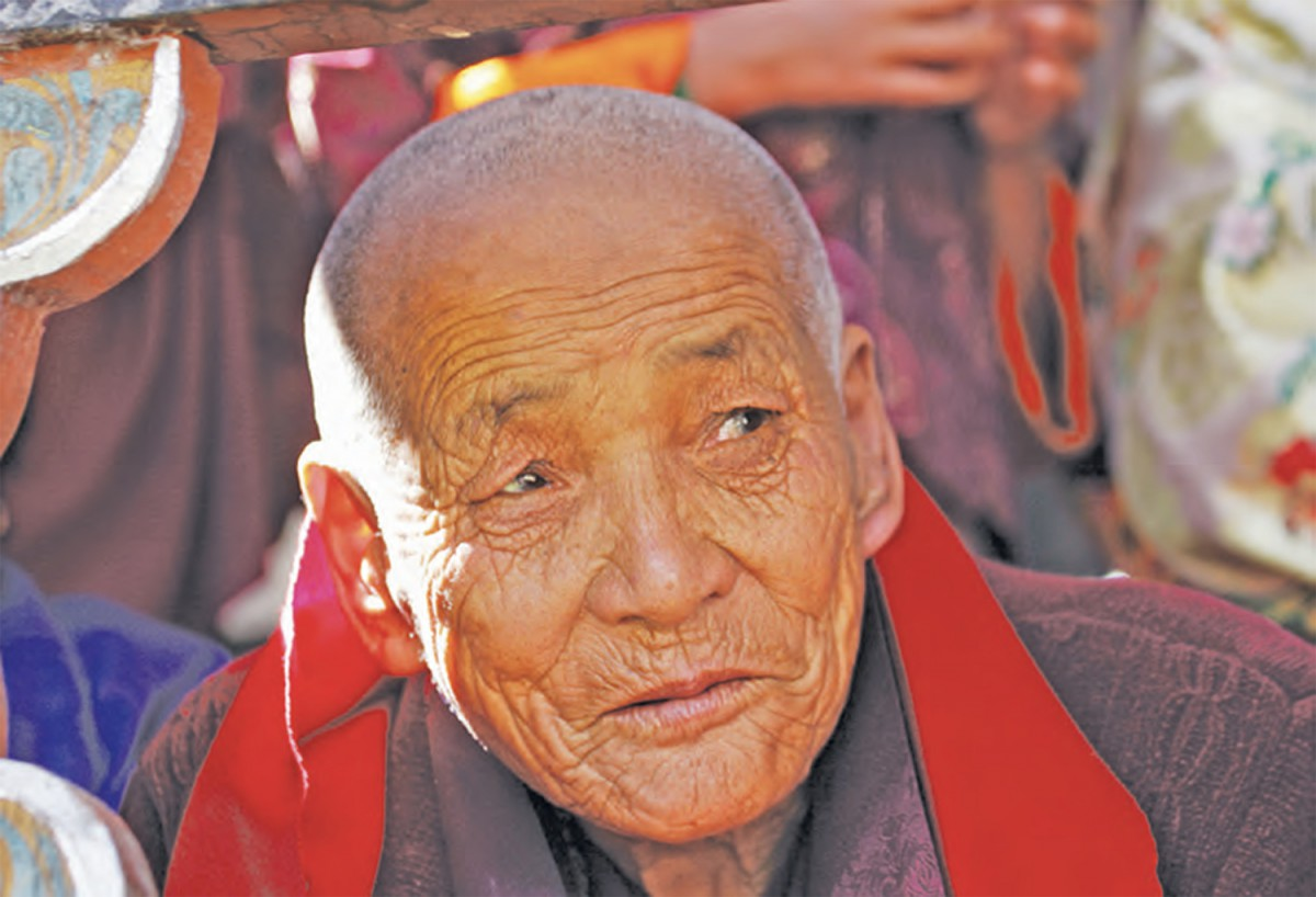 photo of Bhutanese elder