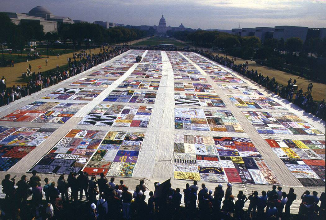 The AIDS Memorial Quilt in its entirety, displayed in Washington, D.C.