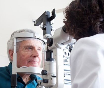Getting an eye exam when you notice any sudden vision changes could save your sight. (iStock)
