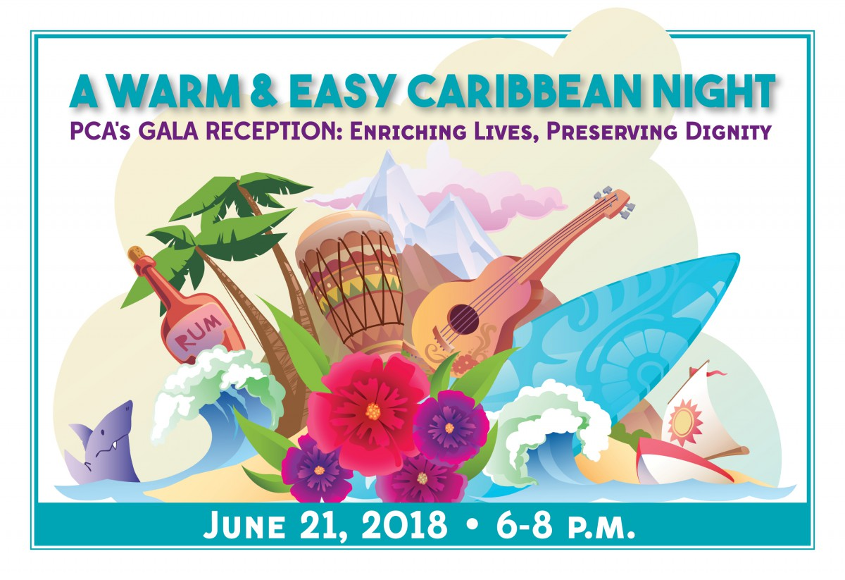 PCA's 2018 Gala Reception Save the date postcard graphic