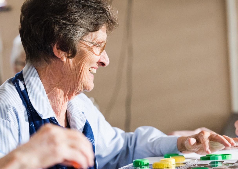 Seniors Playing Game