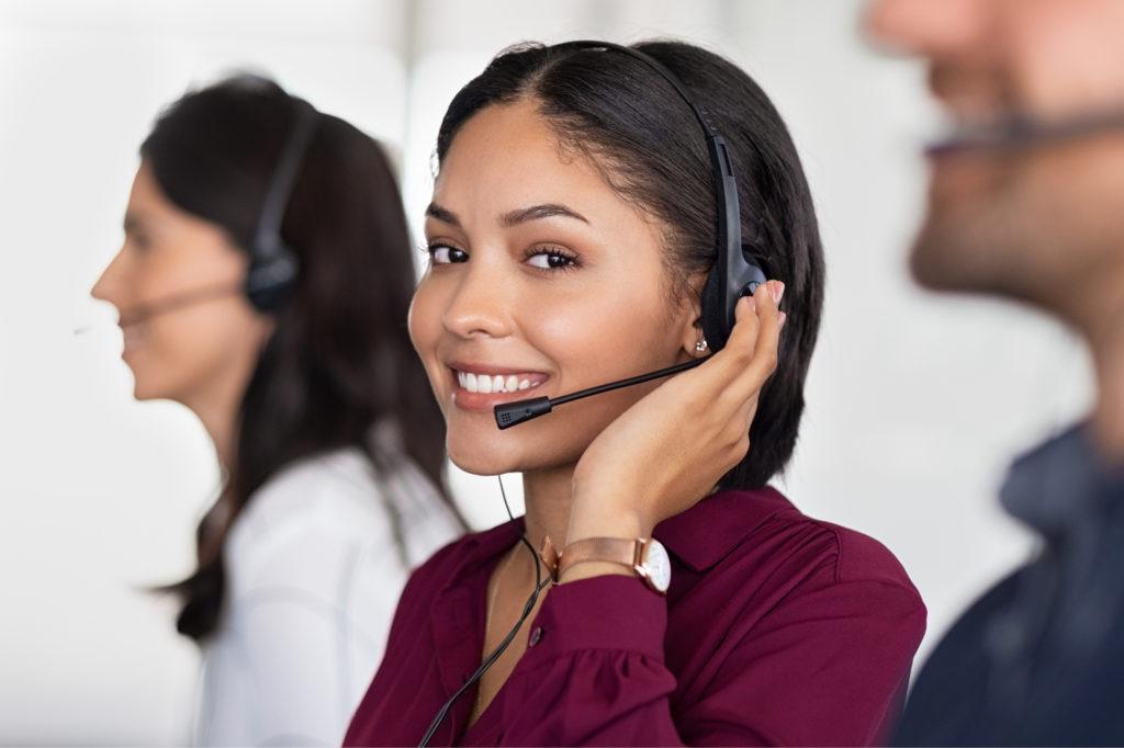 Operator answering call