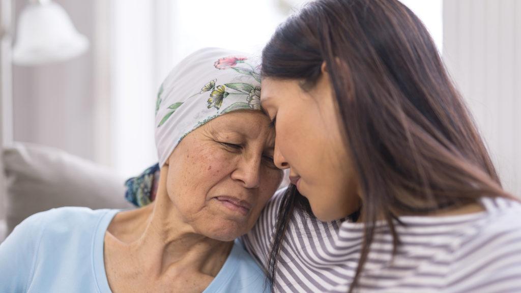 Caregiver giving support