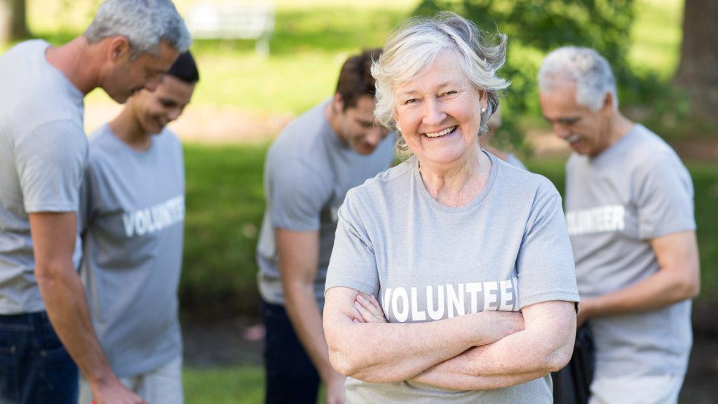 Volunteer Smiling