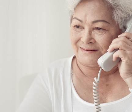Asian Woman on Telephone